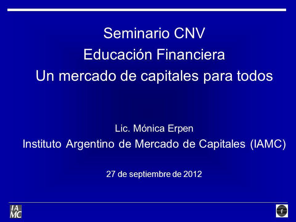 Un mercado de capitales para todos