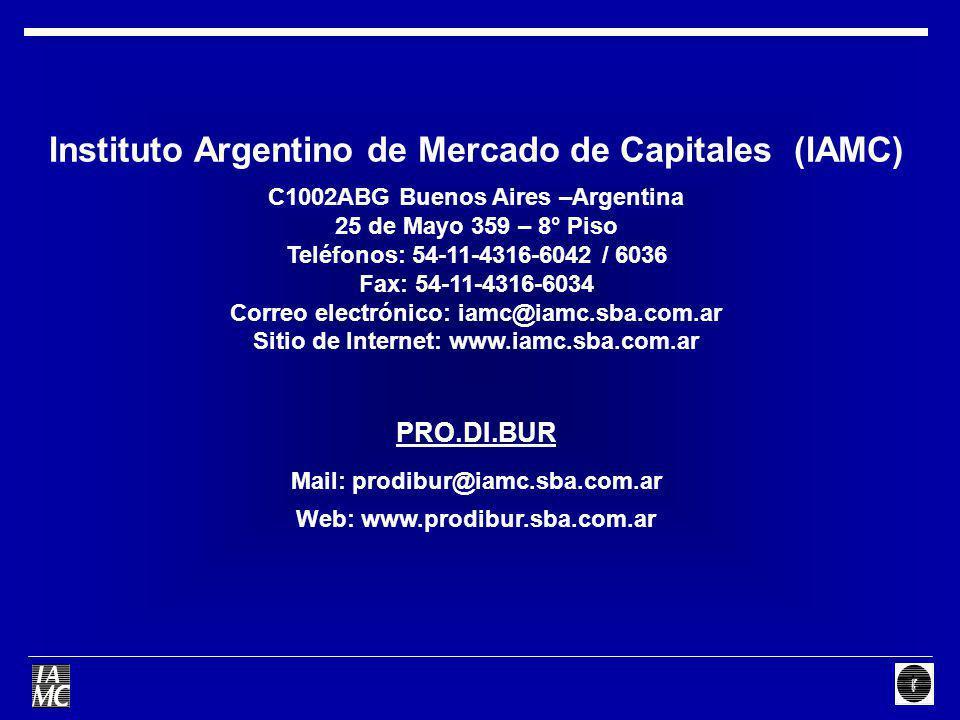 Instituto Argentino de Mercado de Capitales (IAMC)