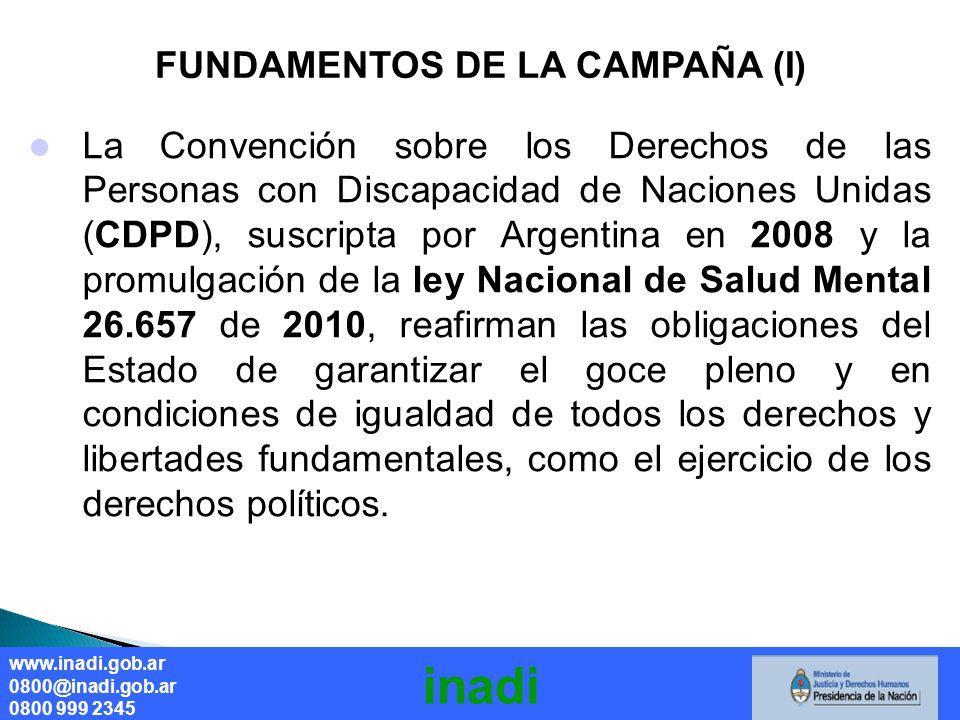 FUNDAMENTOS DE LA CAMPAÑA (I)