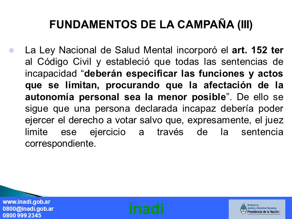 inadi FUNDAMENTOS DE LA CAMPAÑA (III)
