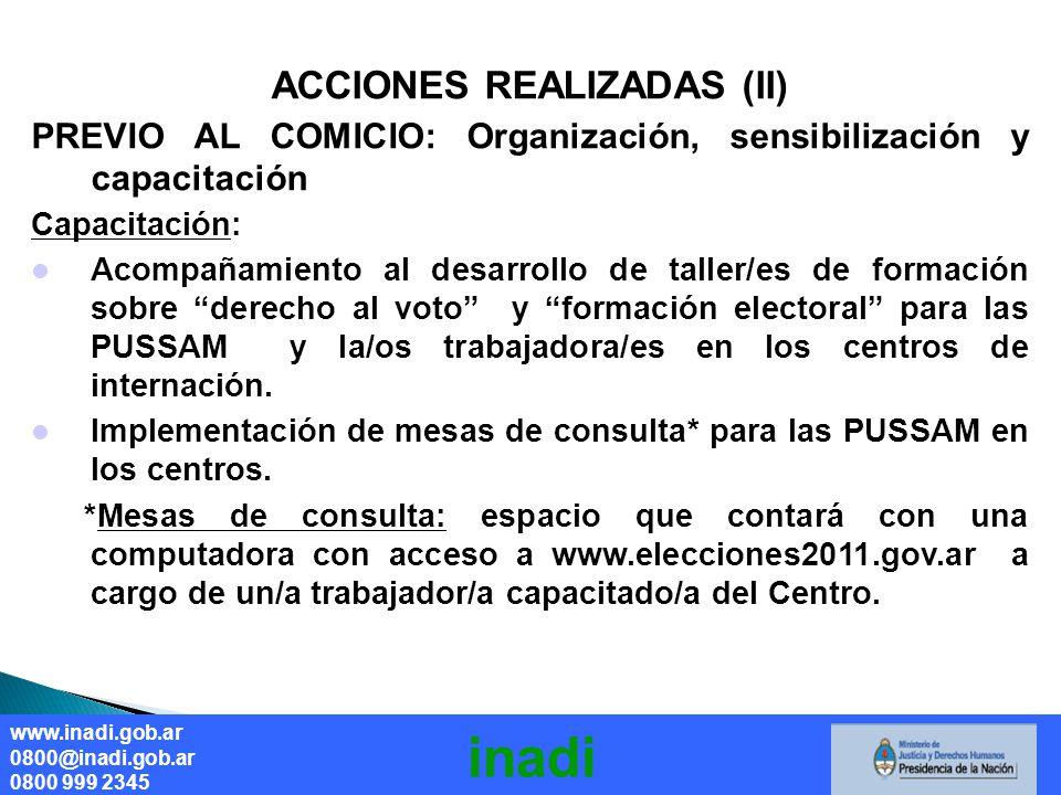 ACCIONES REALIZADAS (II)