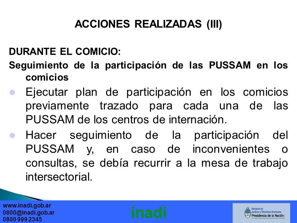 ACCIONES REALIZADAS (III)