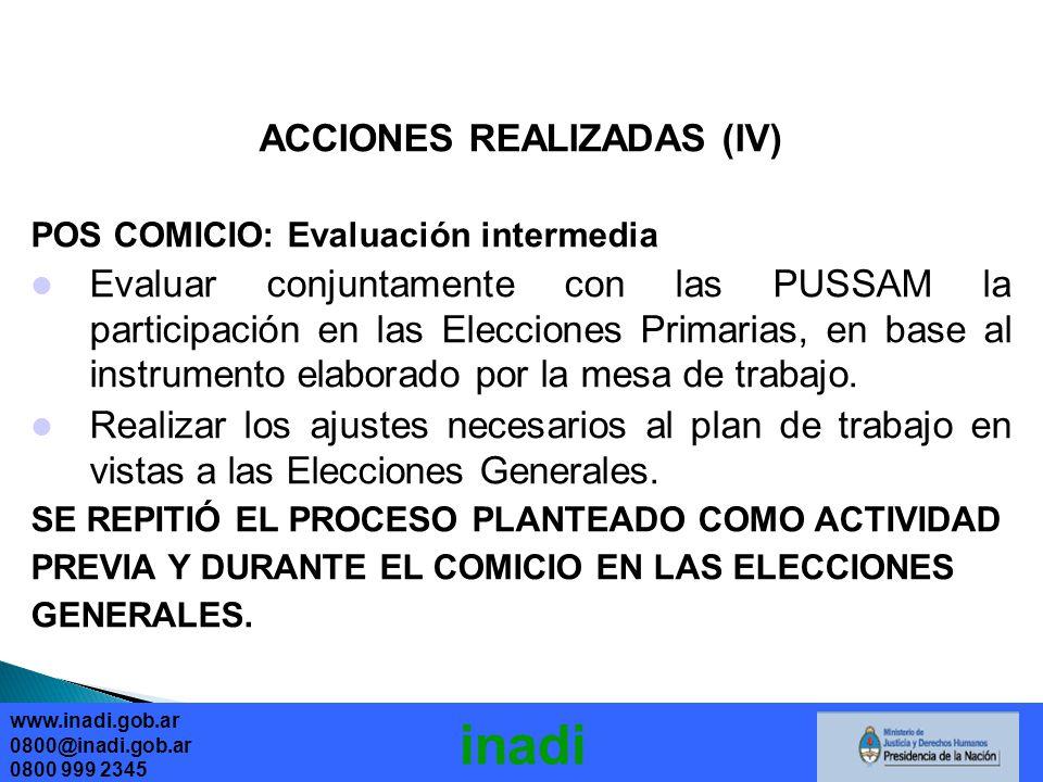 ACCIONES REALIZADAS (IV)
