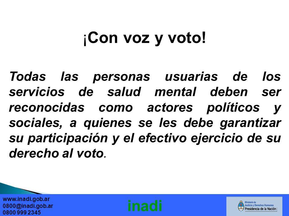 ¡Con voz y voto!