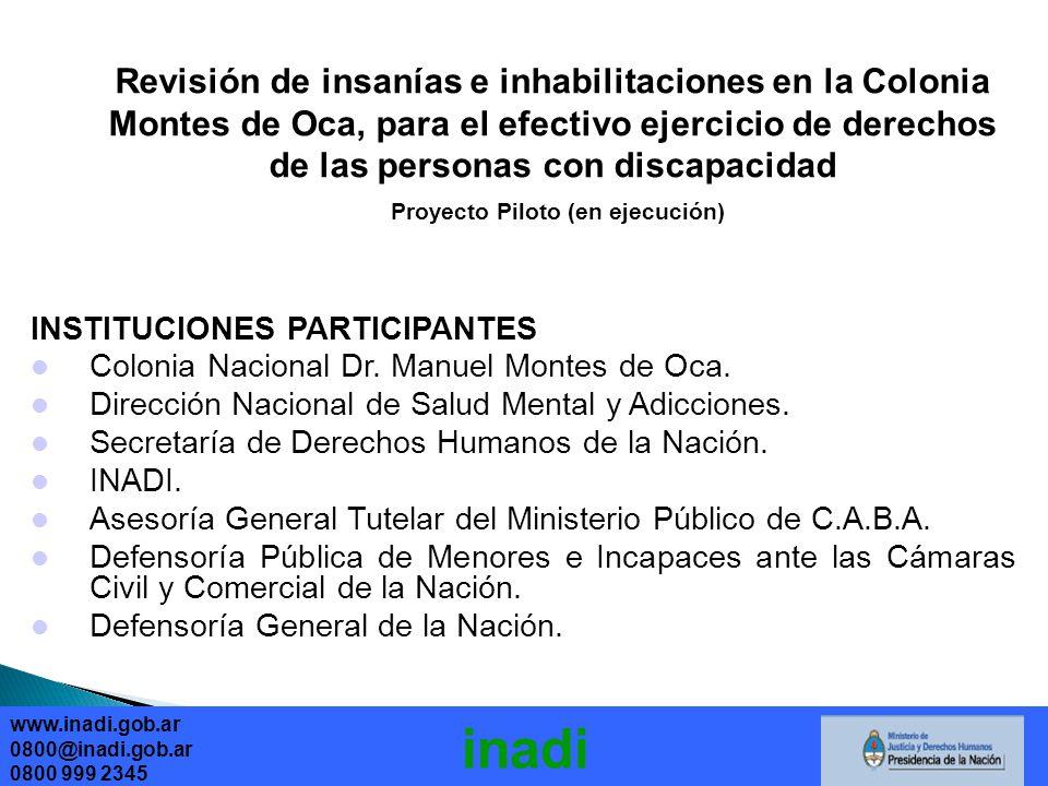 inadi INSTITUCIONES PARTICIPANTES