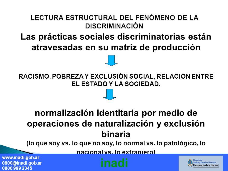 LECTURA ESTRUCTURAL DEL FENÓMENO DE LA DISCRIMINACIÓN