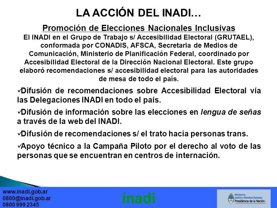Promoción de Elecciones Nacionales Inclusivas