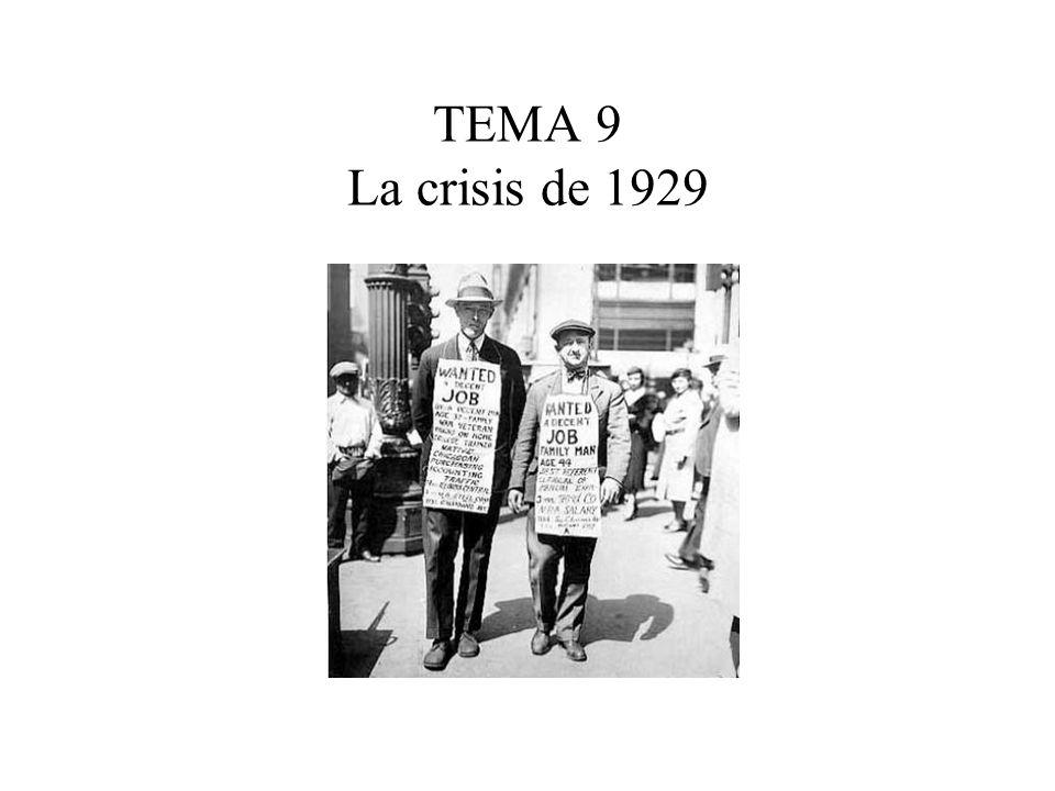 TEMA 9 La crisis de 1929