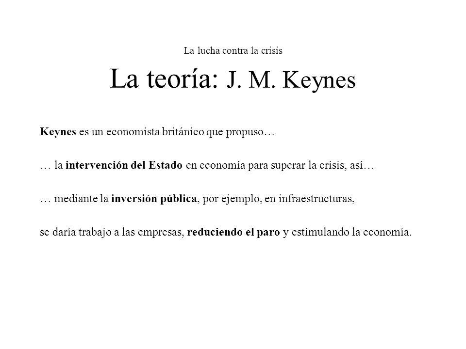 La lucha contra la crisis La teoría: J. M. Keynes