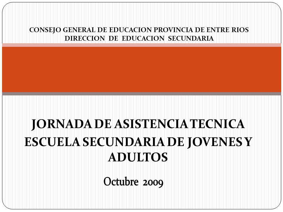 JORNADA DE ASISTENCIA TECNICA ESCUELA SECUNDARIA DE JOVENES Y ADULTOS
