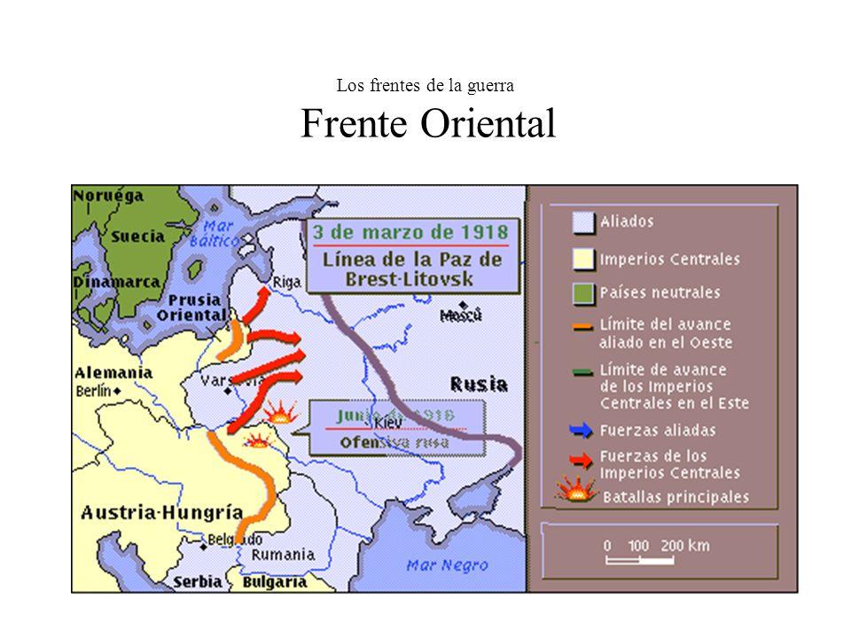 Los frentes de la guerra Frente Oriental