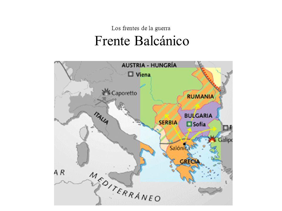 Los frentes de la guerra Frente Balcánico