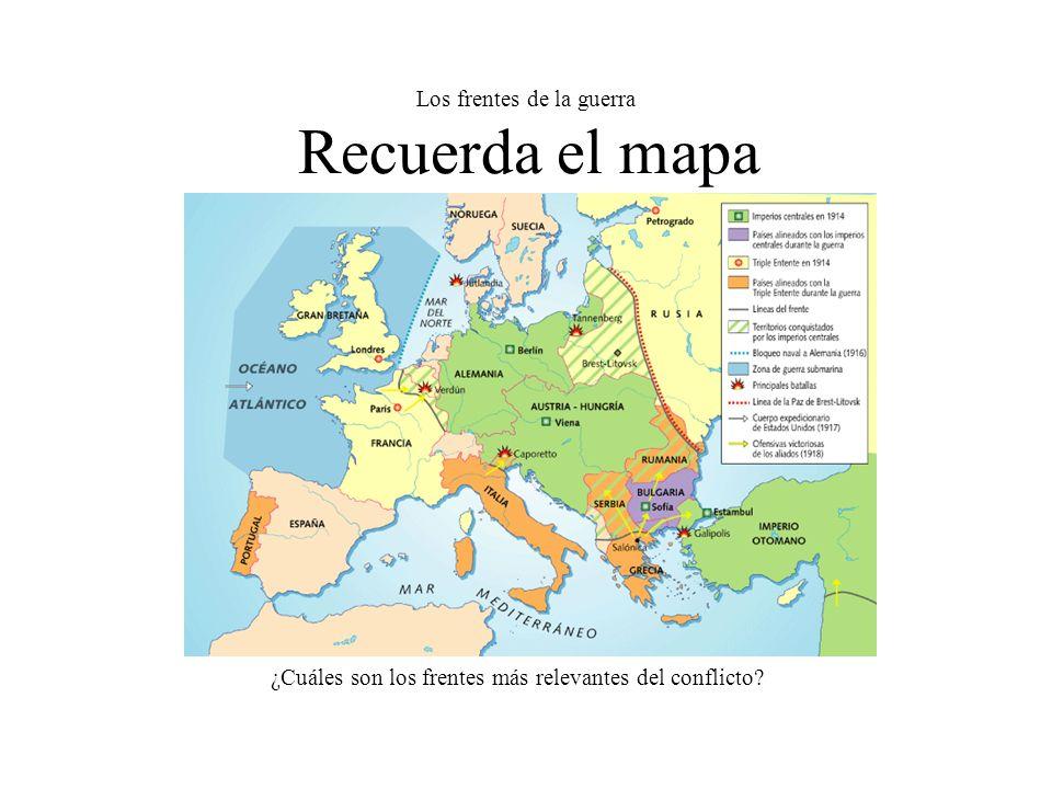 Los frentes de la guerra Recuerda el mapa