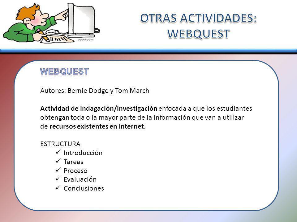 OTRAS ACTIVIDADES: WEBQUEST