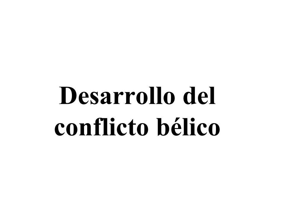 Desarrollo del conflicto bélico