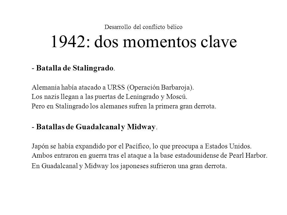 Desarrollo del conflicto bélico 1942: dos momentos clave