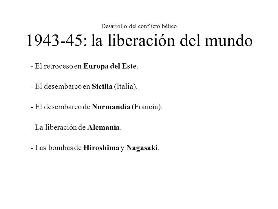 Desarrollo del conflicto bélico 1943-45: la liberación del mundo