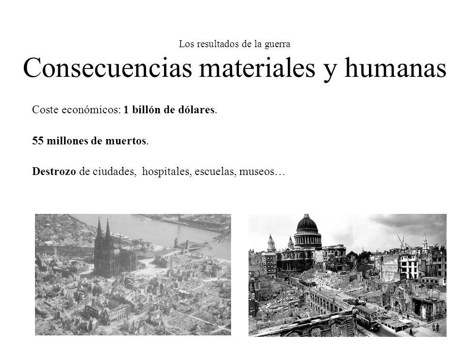 Los resultados de la guerra Consecuencias materiales y humanas
