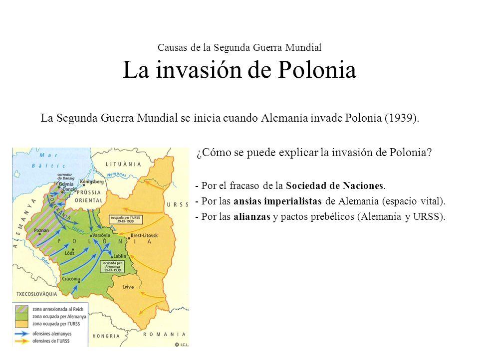 Causas de la Segunda Guerra Mundial La invasión de Polonia
