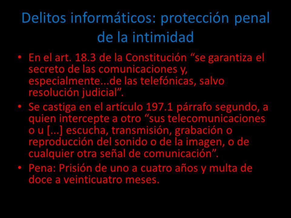 Delitos informáticos: protección penal de la intimidad