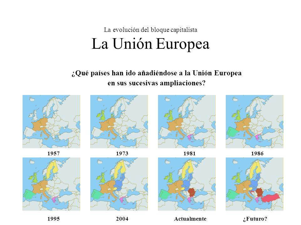La evolución del bloque capitalista La Unión Europea