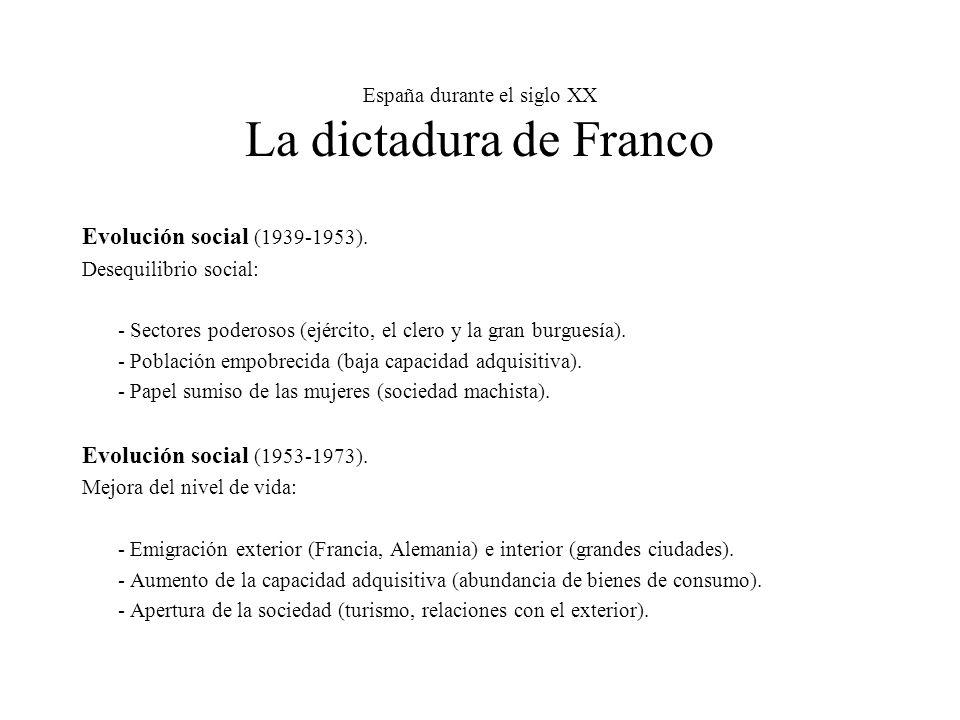España durante el siglo XX La dictadura de Franco