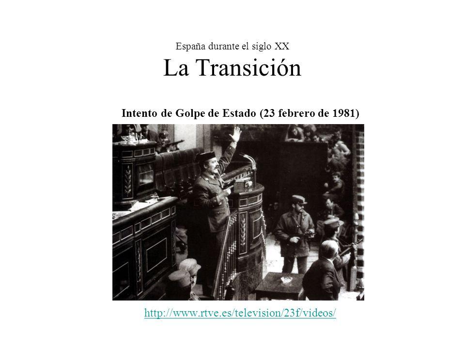 España durante el siglo XX La Transición