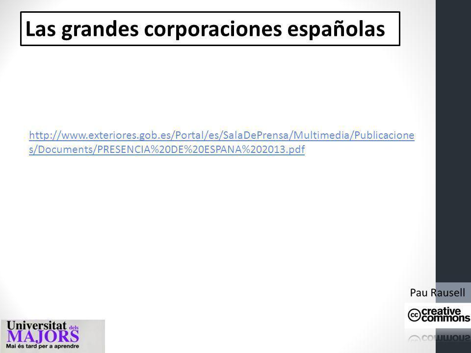 Las grandes corporaciones españolas