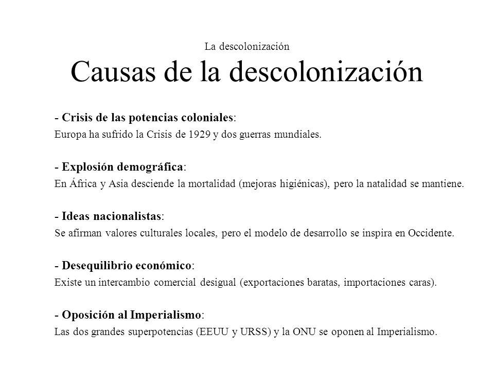La descolonización Causas de la descolonización