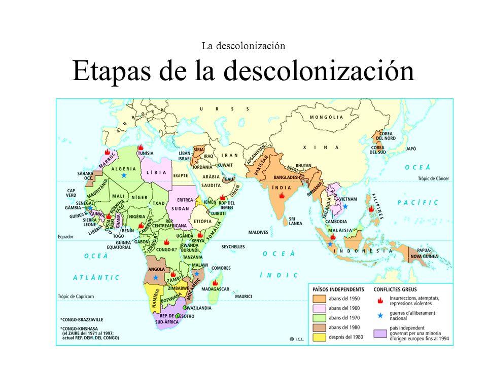 La descolonización Etapas de la descolonización