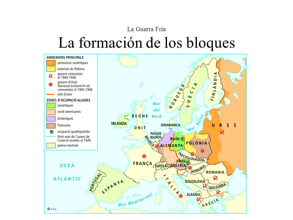 La Guerra Fría La formación de los bloques