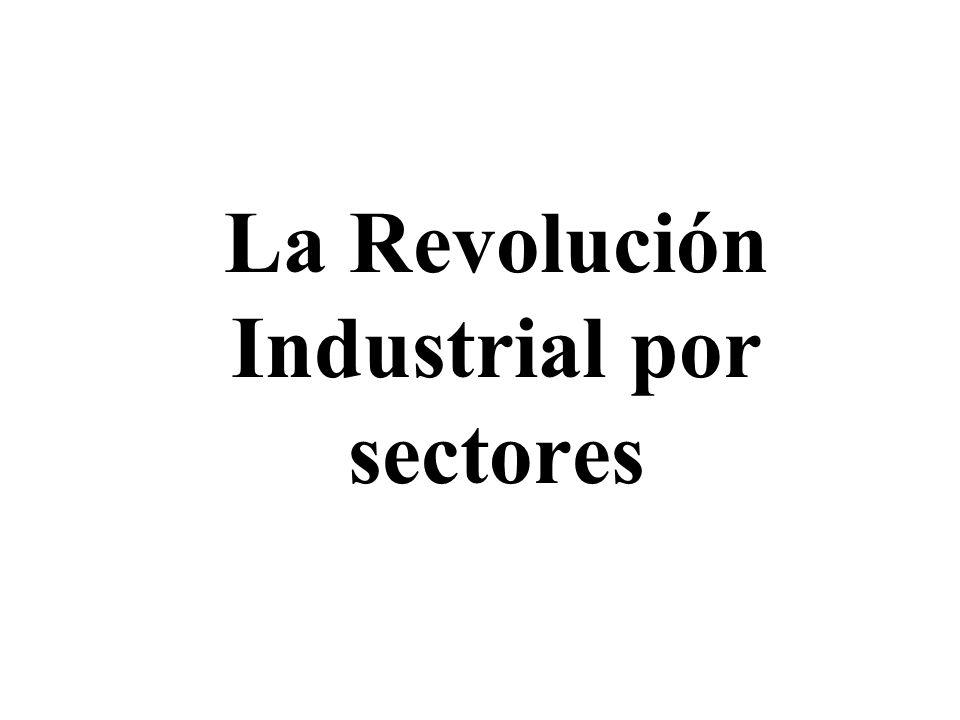 La Revolución Industrial por sectores