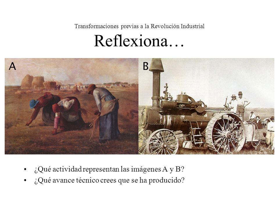 Transformaciones previas a la Revolución Industrial Reflexiona…