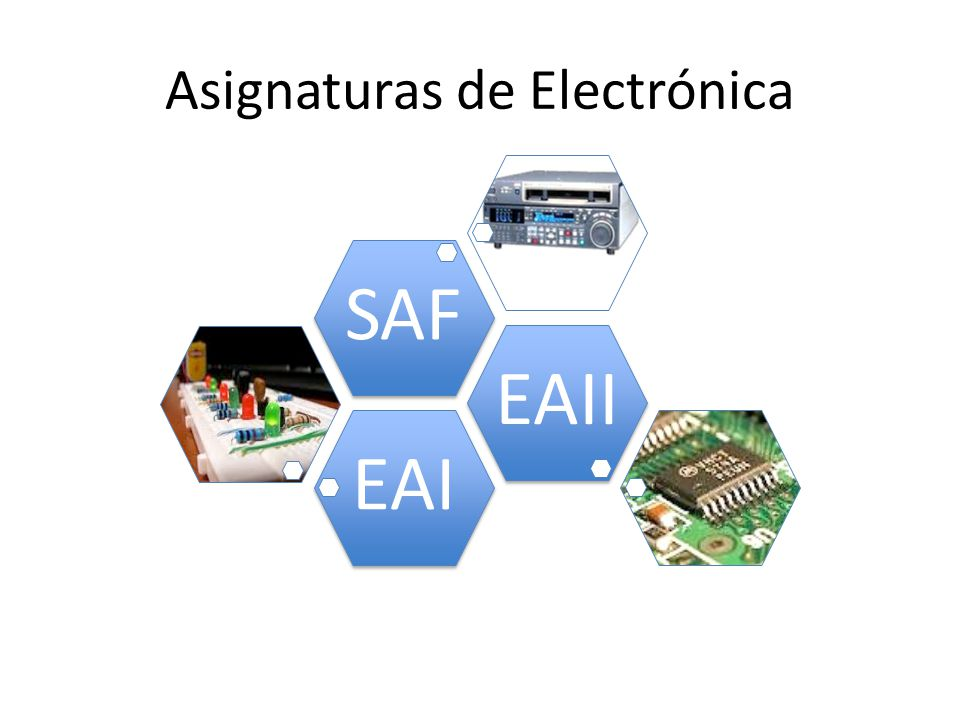 Asignaturas de Electrónica