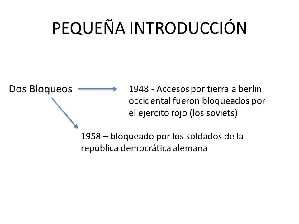 PEQUEÑA INTRODUCCIÓN Dos Bloqueos