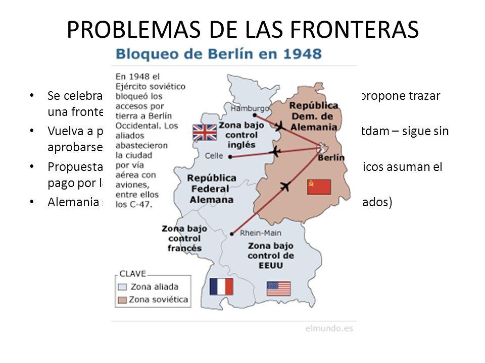 PROBLEMAS DE LAS FRONTERAS ALEMANAS