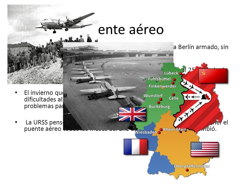 Puente aéreoLos aliados occidentales tenían un plan que era llegar a Berlín armado, sin embargo no funcionó.