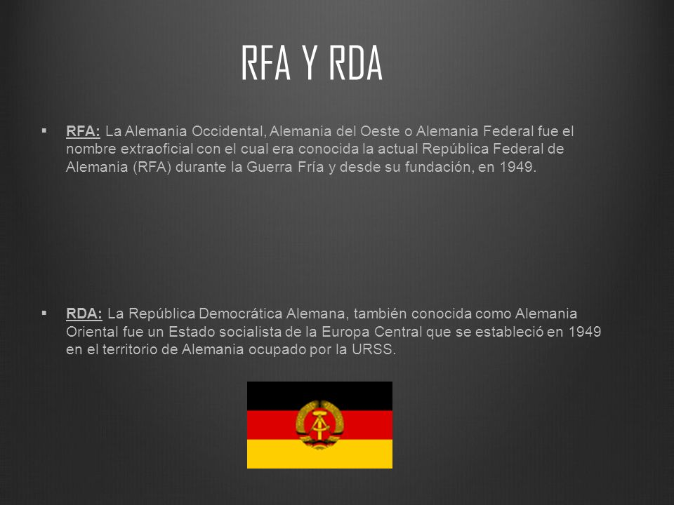 RFA Y RDA