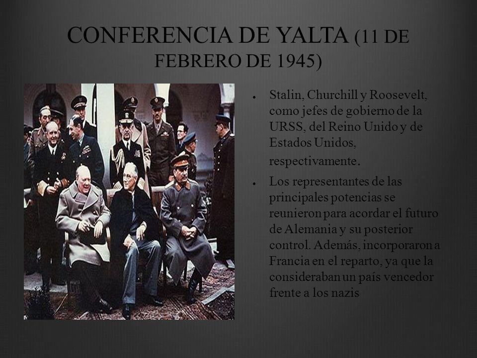 CONFERENCIA DE YALTA (11 DE FEBRERO DE 1945)