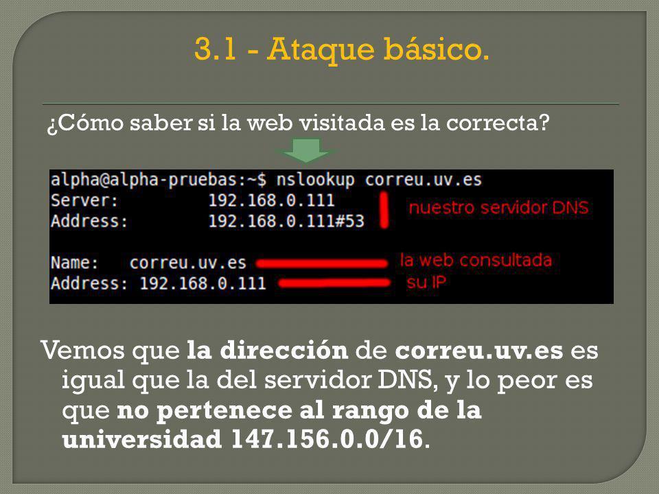 3.1 - Ataque básico. ¿Cómo saber si la web visitada es la correcta