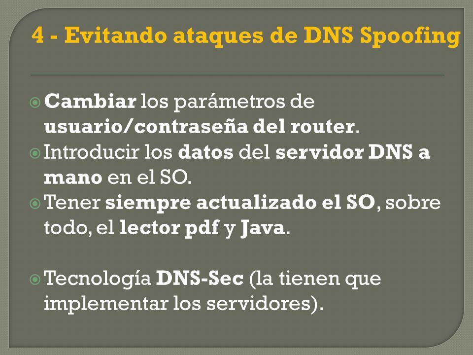 4 - Evitando ataques de DNS Spoofing