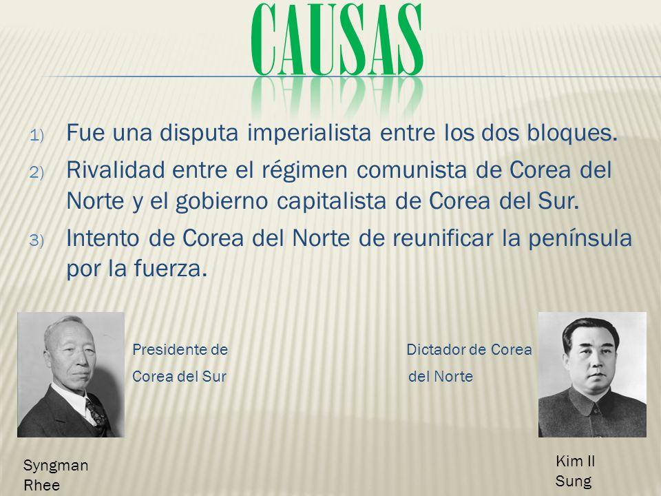 causas Presidente de Dictador de Corea