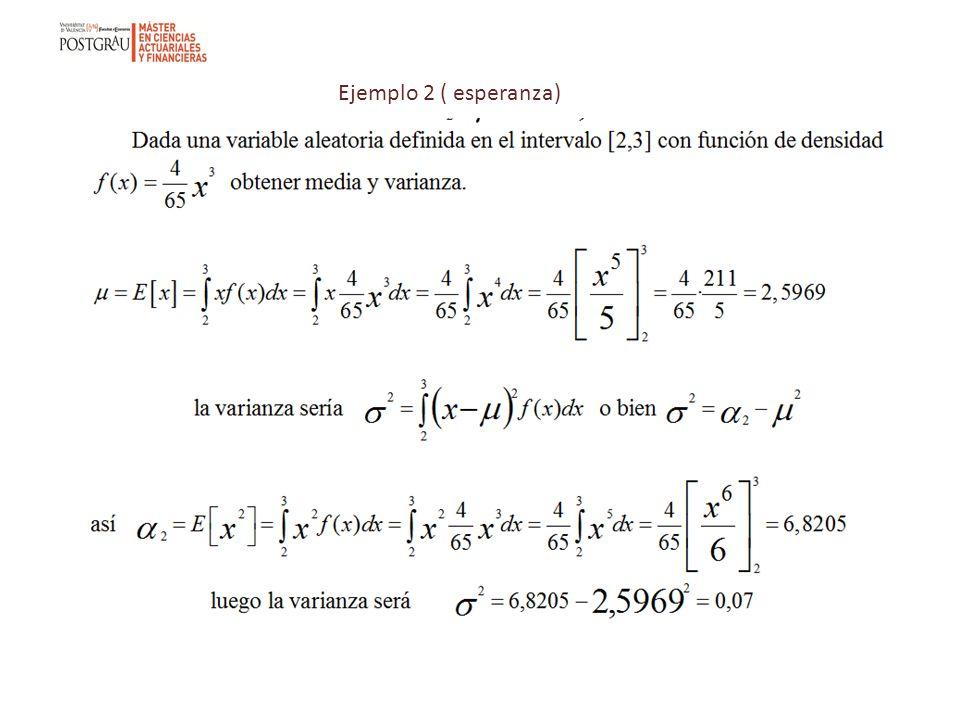 Ejemplo 2 ( esperanza)