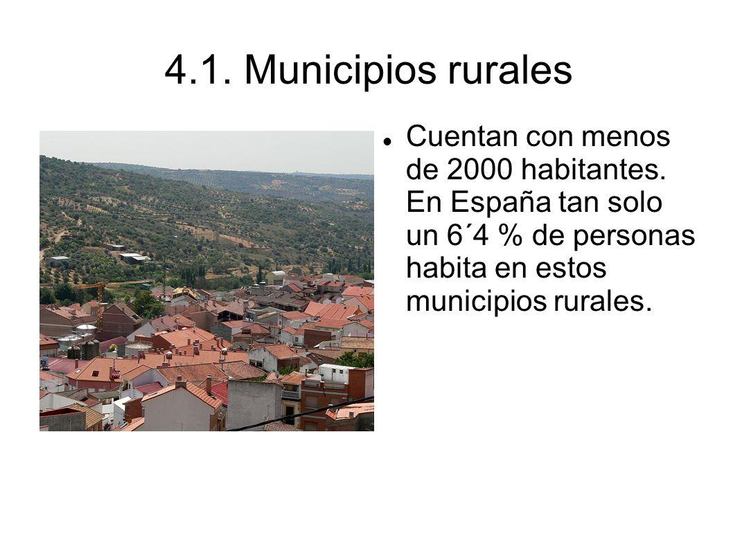 4.1. Municipios rurales Cuentan con menos de 2000 habitantes.