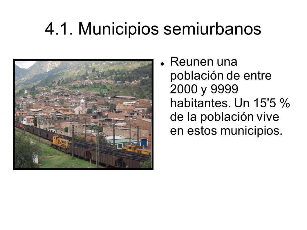 4.1. Municipios semiurbanos