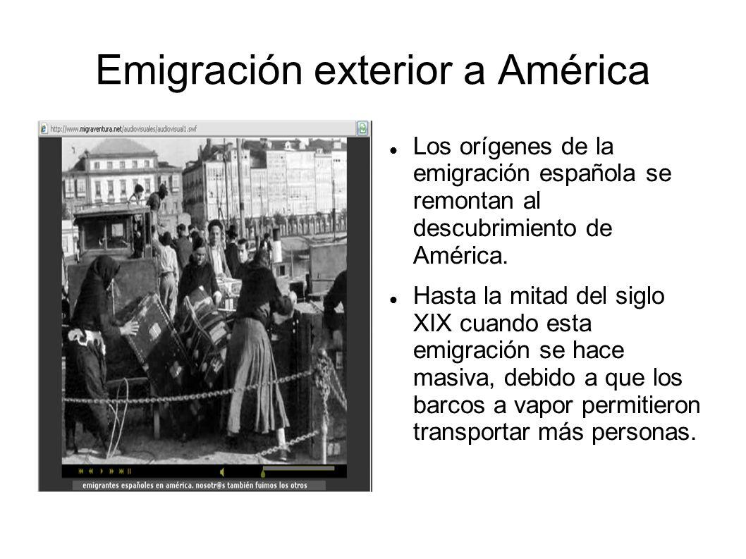 Emigración exterior a América