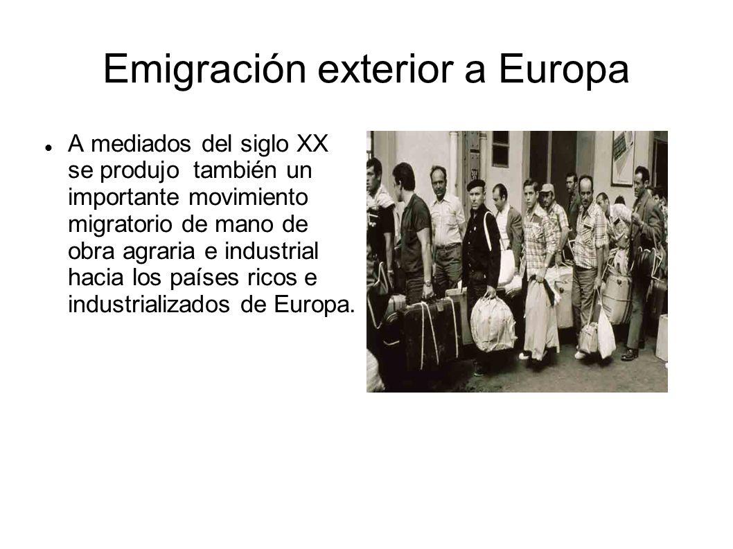 Emigración exterior a Europa