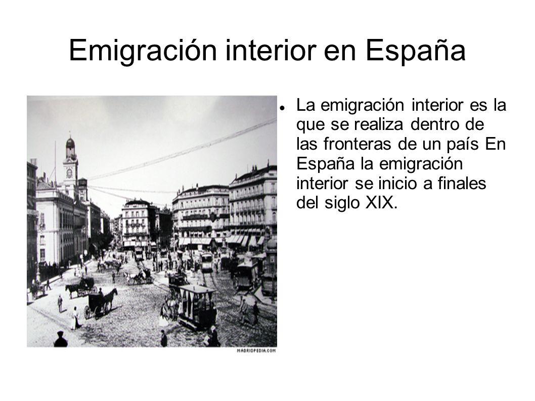 Emigración interior en España