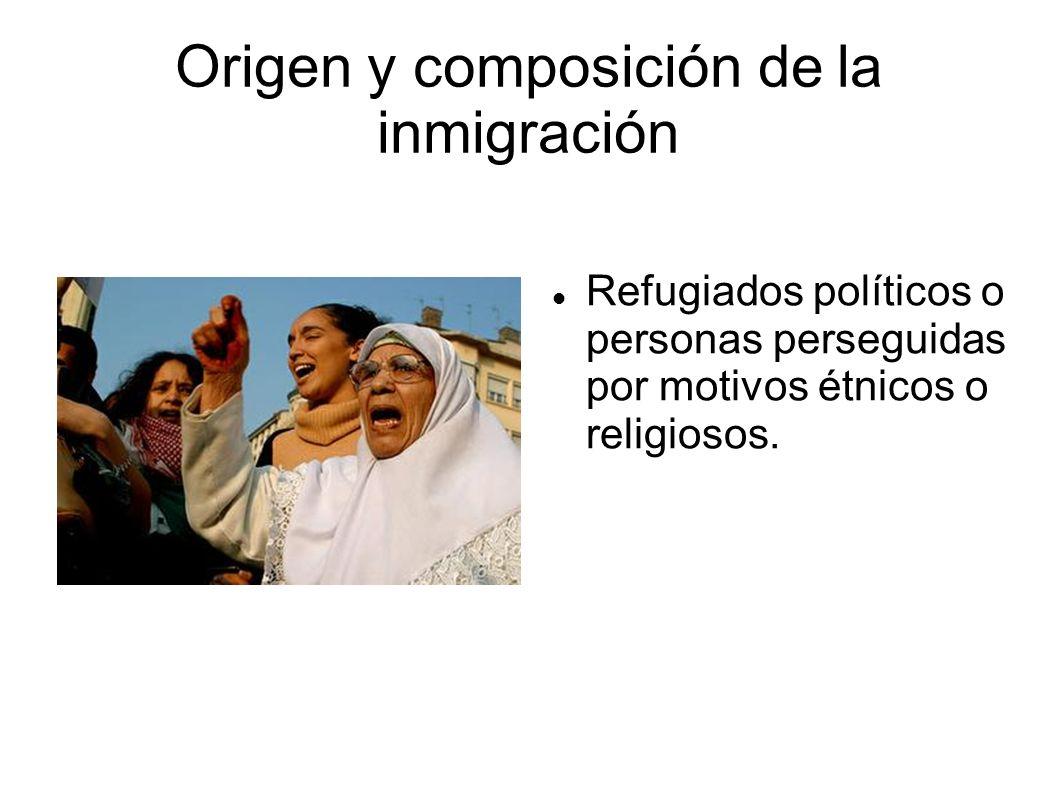 Origen y composición de la inmigración