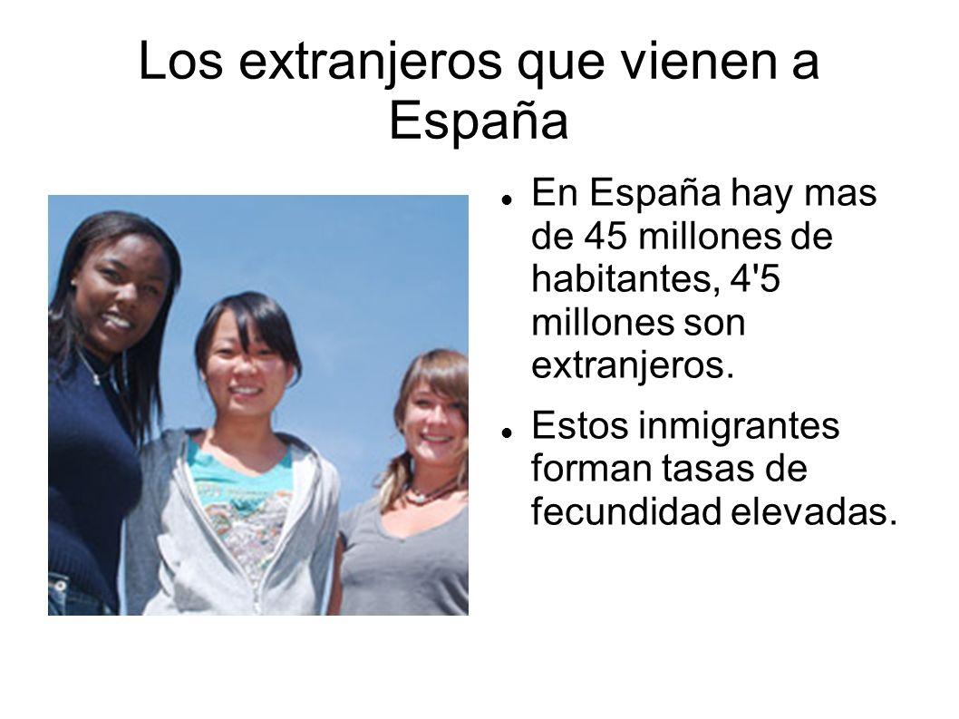 Los extranjeros que vienen a España